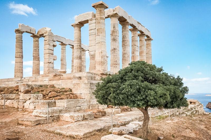 Kap Sounion Poseidon Tempel Attika Sehenswürdigkeiten