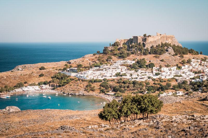 Lindos Akropolis Rhodos Griechenland Sehenswürdigkeiten