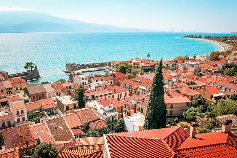 Nafpaktos Urlaub Region Golf von Korinth