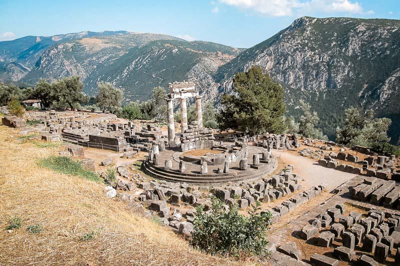 Orakel von Delphi Athena Tempel