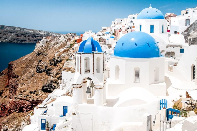 Santorini Highlights blau weiße Kirchen Griechenland