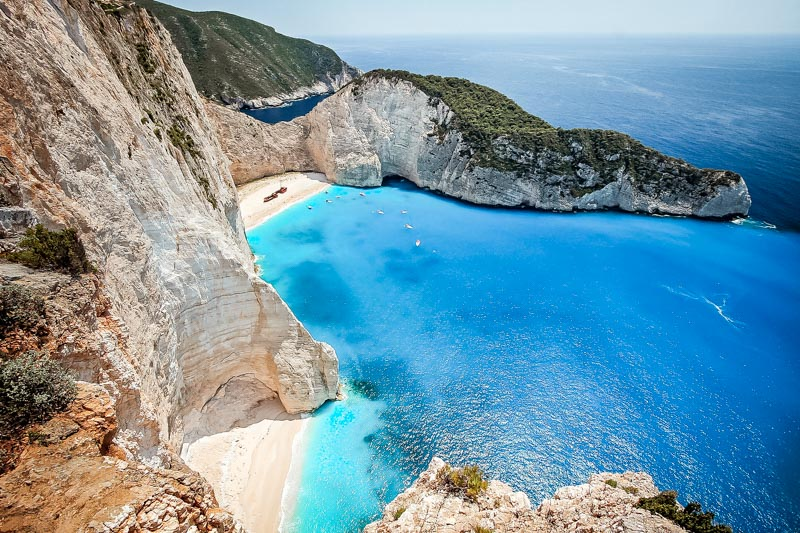 Zakynthos Navagio Bucht Schönster Strand Griechenland