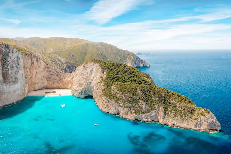 Beliebte Urlaubsorte Griechenland Zakynthos Navagio