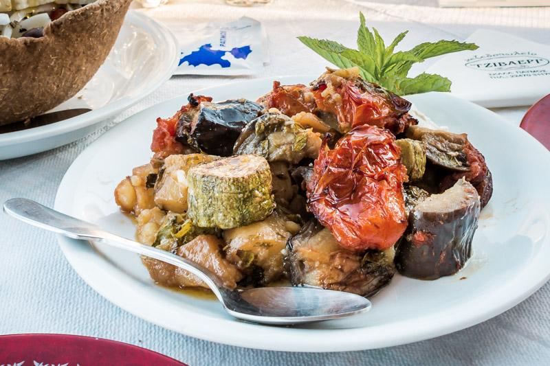 Briam Gemüsepfanne Vegane Gerichte Griechenland