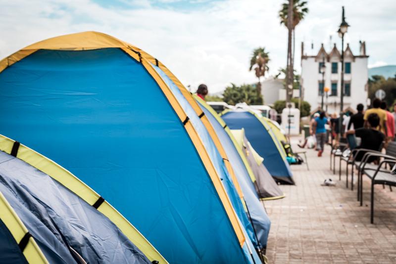Flüchtlinge Kos Stadt Hafen Sommer 2015