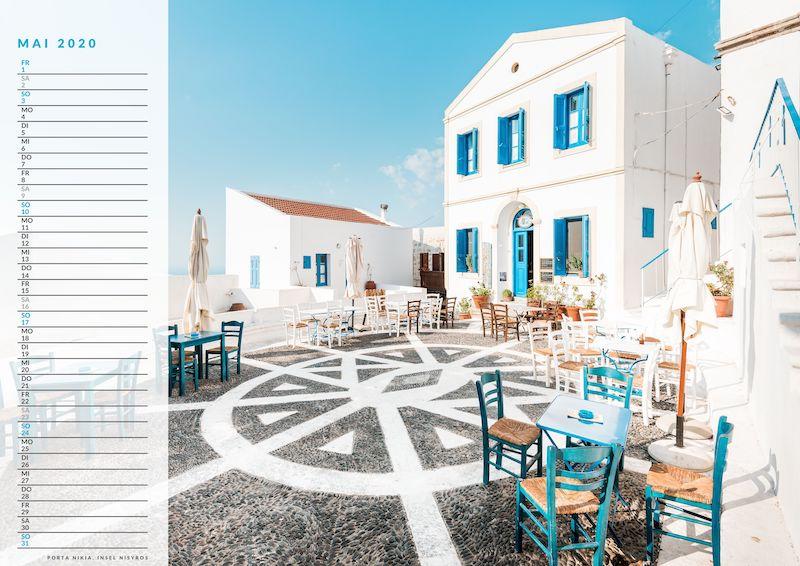 Griechenland Kalender 2020 günstig mit Planer
