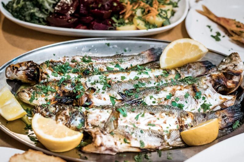 Griechenland Restaurant Frischer Fisch Speisekarte