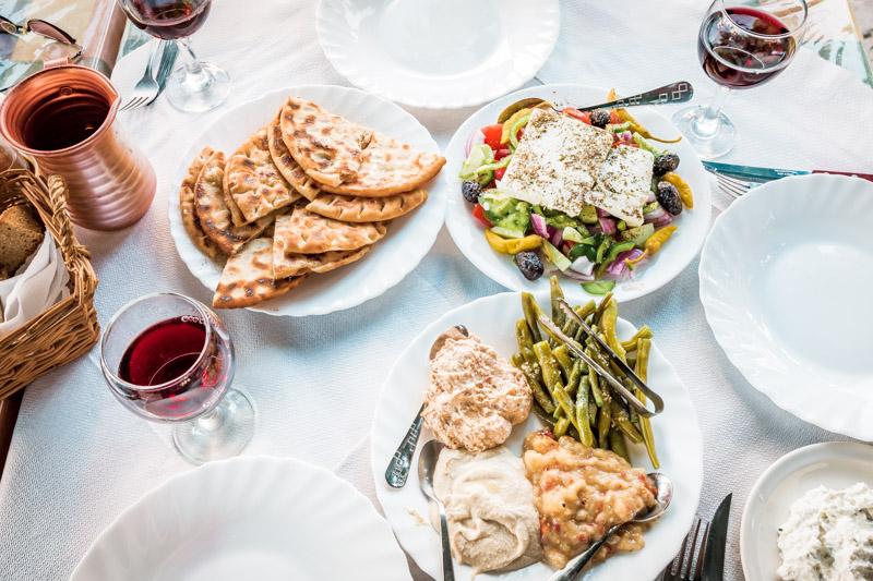 Griechisch Essen Vorspeisen Meze Vegetarisch