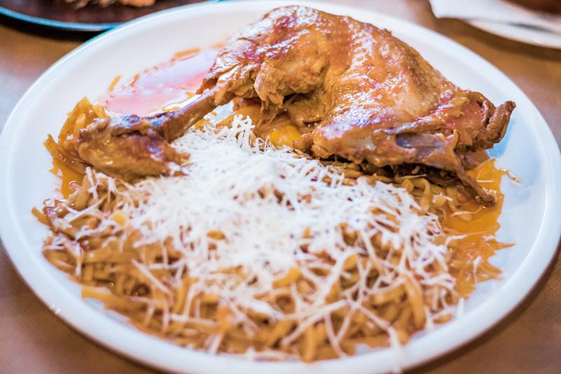 Griechische Speisen Flomari Nudeln Insel Limnos