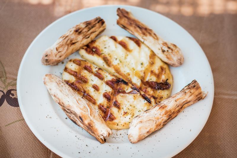 Griechischer Grill Käse Insel Chios Spezialitäten