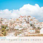 Kalender Griechenland Reisen PDF Ausdrucken Olymbos