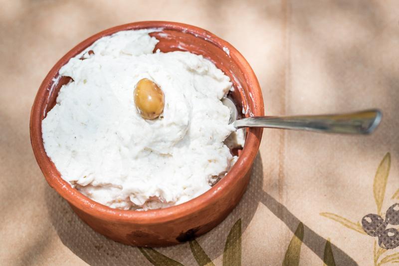 Knoblauch Dip Skordalia Griechenland Speisekarte