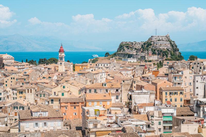 Korfu Griechenland Beliebte Inseln Kerkyra Stadt