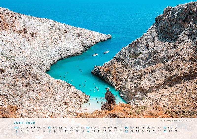 Kreta Wandkalender Urlaub Kalender 2020
