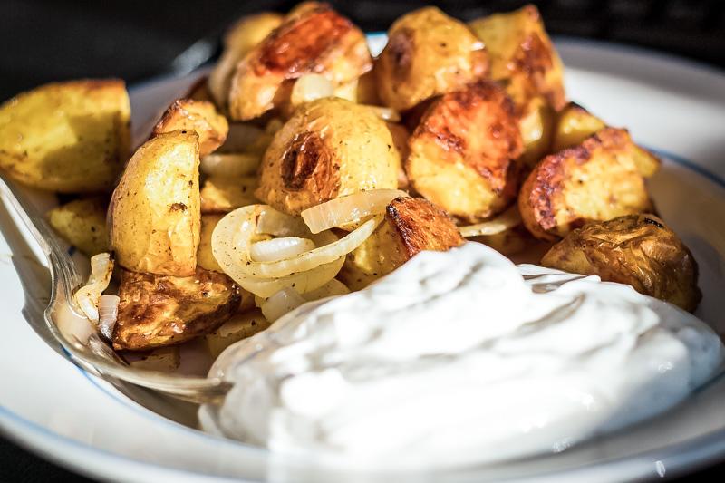 Ofen Kartoffeln Rosmarin Tzatziki Dip Knoblauch