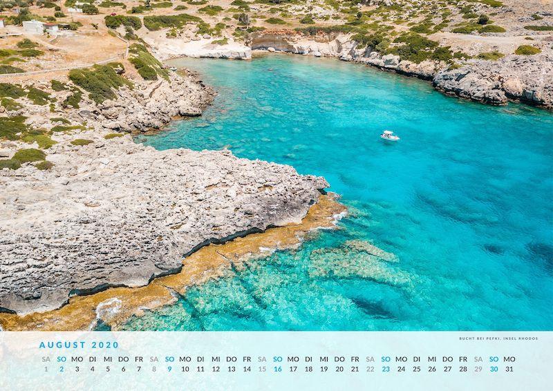 Rhodos Kalender 2020 Wandkalender Strände