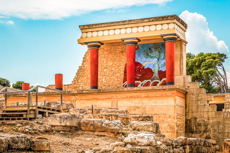 Schöne Inseln Griechenland Kreta Urlaub Knossos