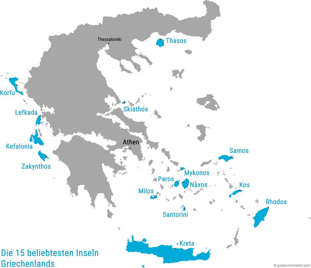 Schöne Urlaubsziele Beliebte Griechische Inseln Reiseziele