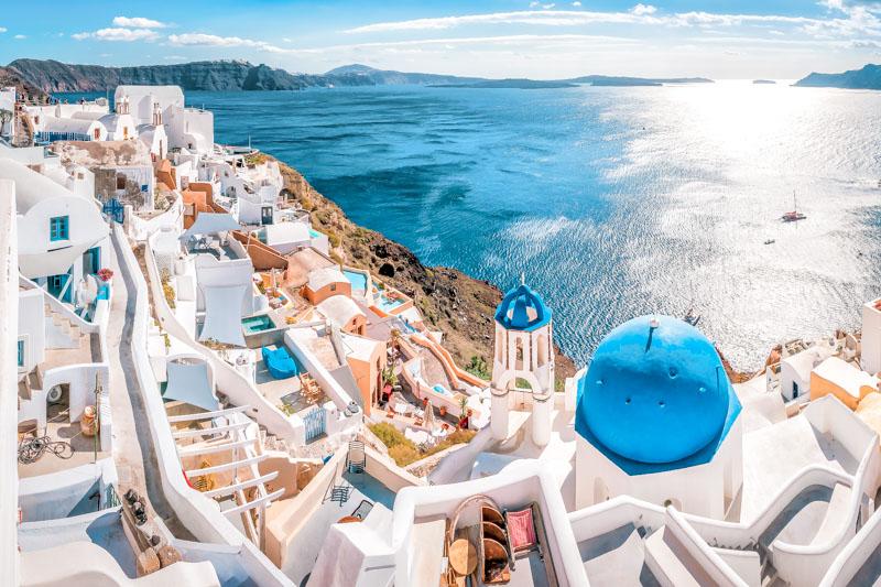 Schöne Urlaubsziele Santorin Griechenland