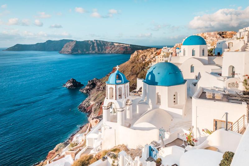 Schöne Urlaubsziele Santorin beliebte Insel Griechenland