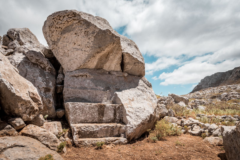 Brykountos antike Gräber karpathos