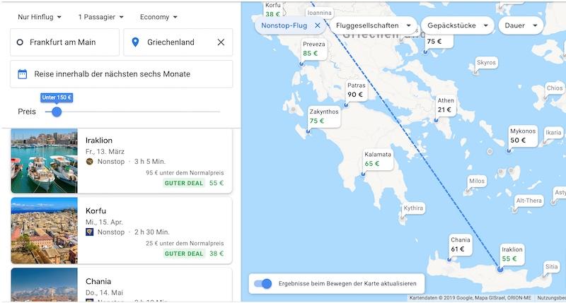Google Flights Günstige Flüge 1