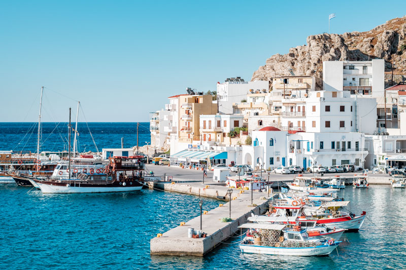 Karpathos Stadt Hafen Ausflüge Touren