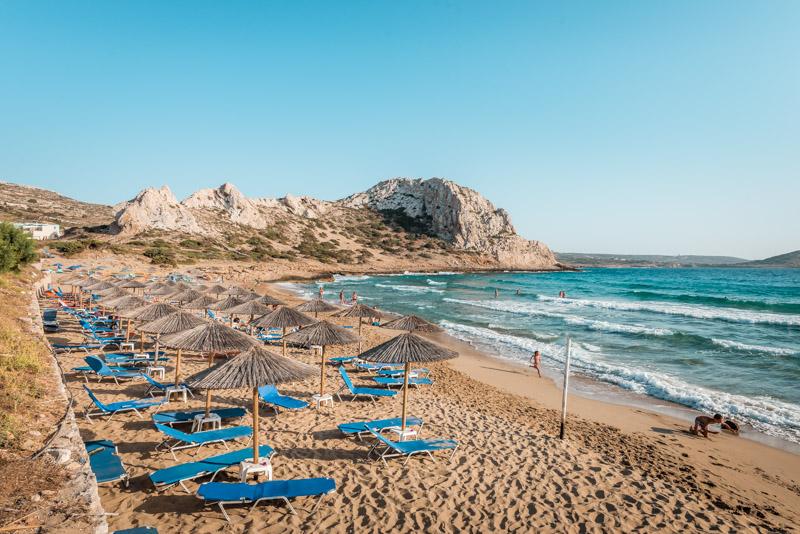 Karpathos strände agios nikolaos beach arkassa