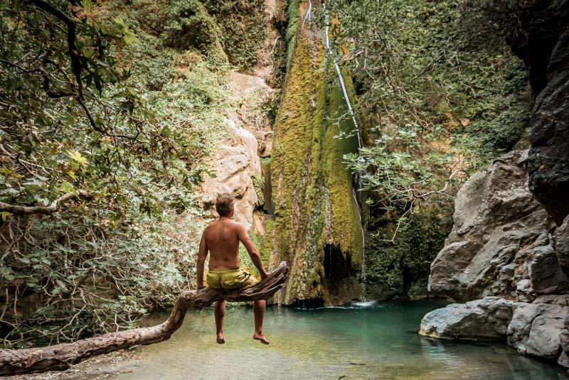 Kreta Wasserfälle Ricktis Schlucht