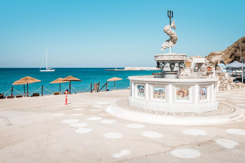 Neptun Brunnen Diafani Griechenland