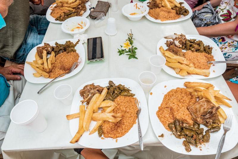 Panigiri Griechenland Essen Ziege Kasos