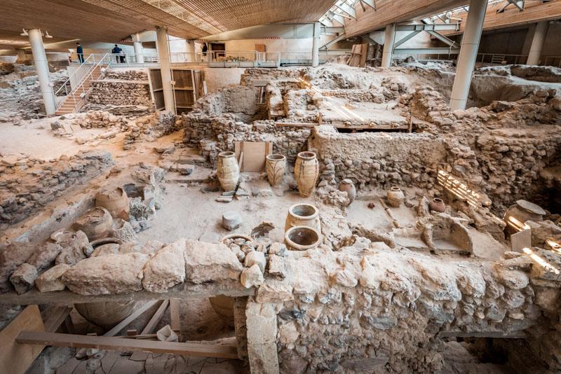 akrotiri ausgrabungen santorini
