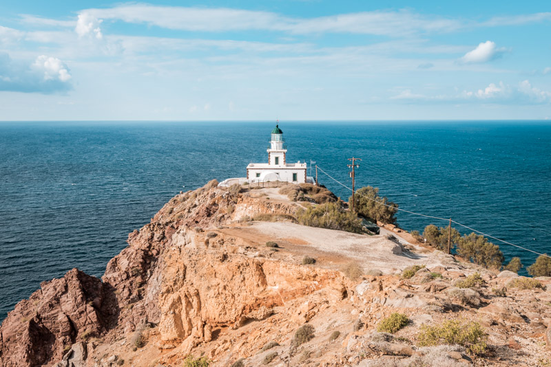 santorini akrotiri leuchtturm faros lighthouse