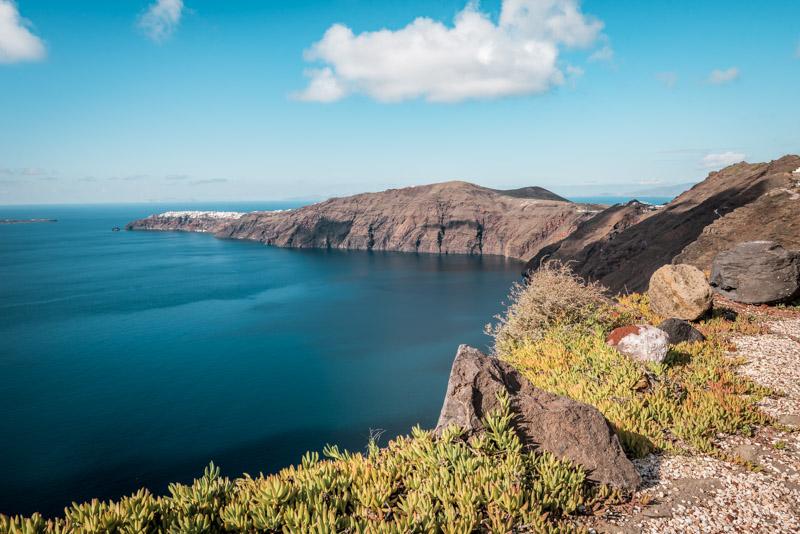 santorini wanderung fira oia kraterrand