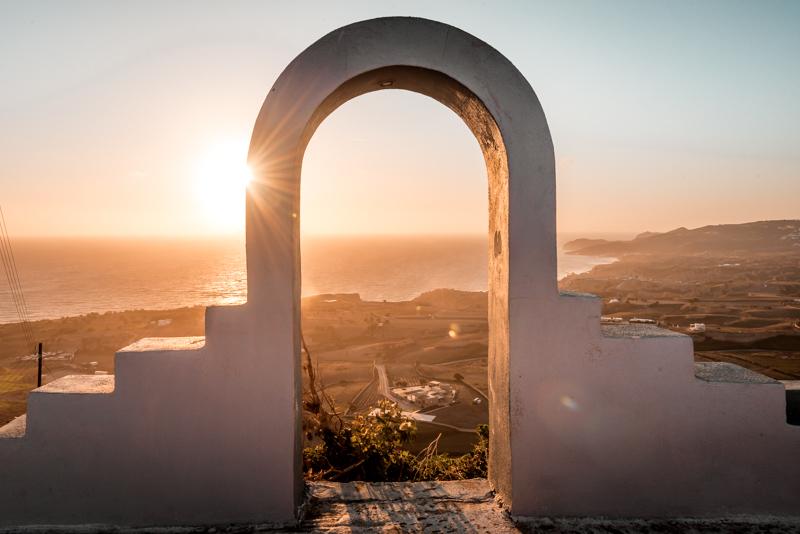sonnenuntergang Santorini akrotiri emporio