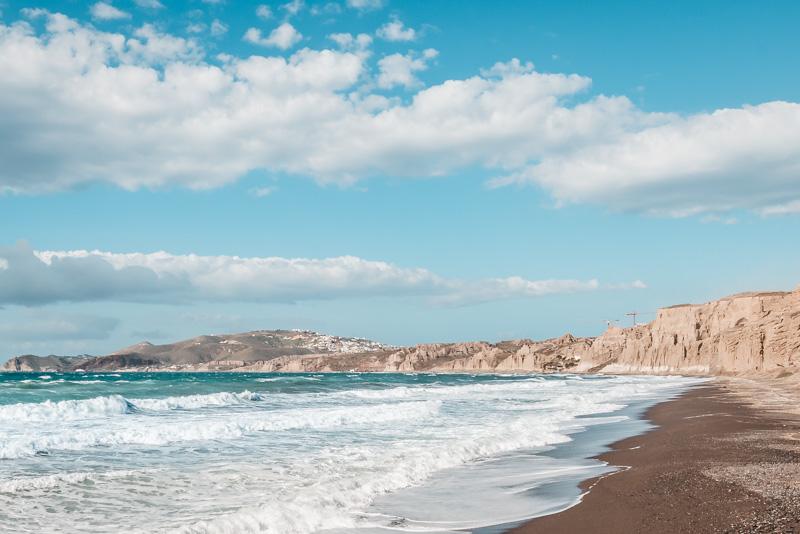 vlychada beach santorini strände