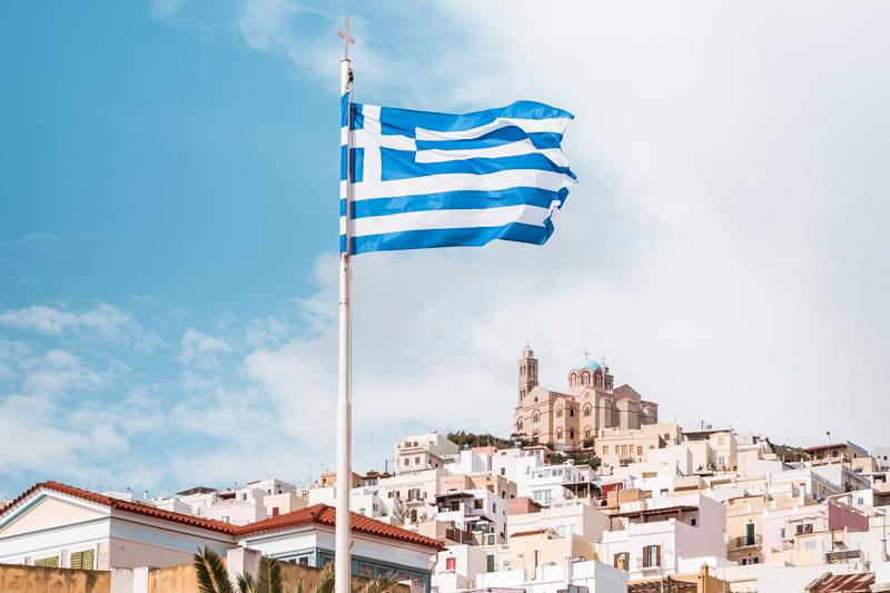 Griechenland Flagge Bedeutung Blau Weiss