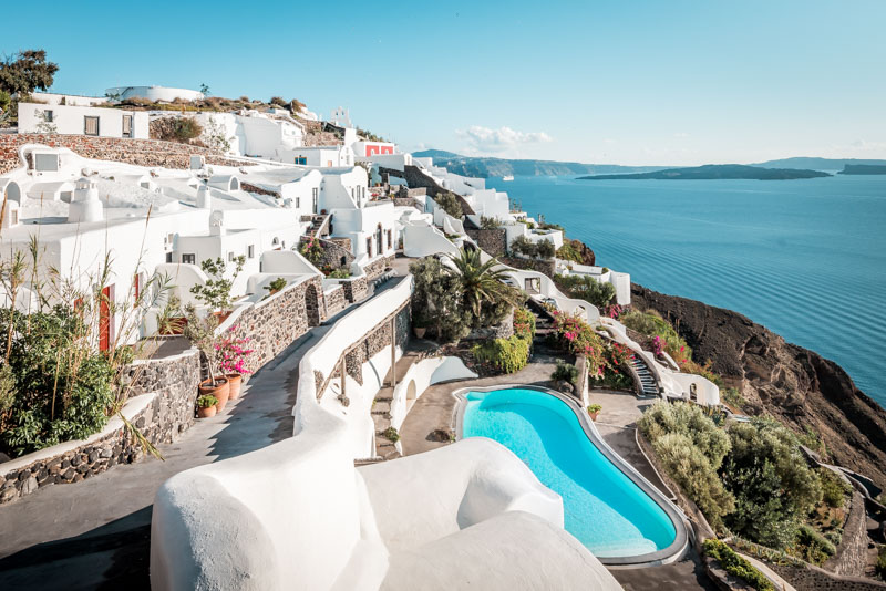 Pauschalurlaub Santorini Hotels Oia Erfahrung