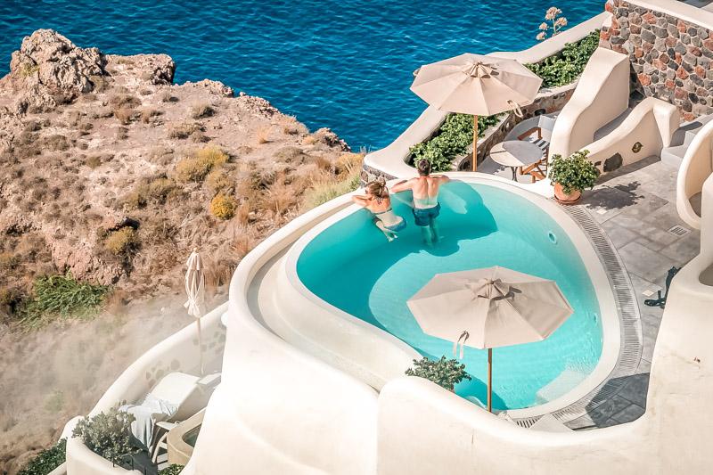 Santorini Urlaub Schöne Hotels Griechenland