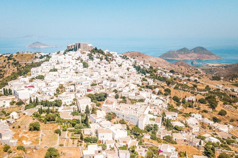 Schönste Inseln Griechenland Chora Patmos