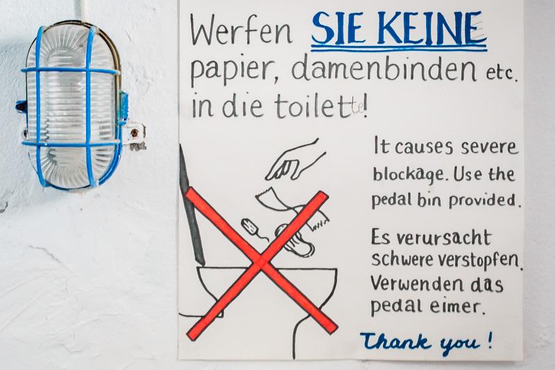 Toiletten in Griechenland kein Papier