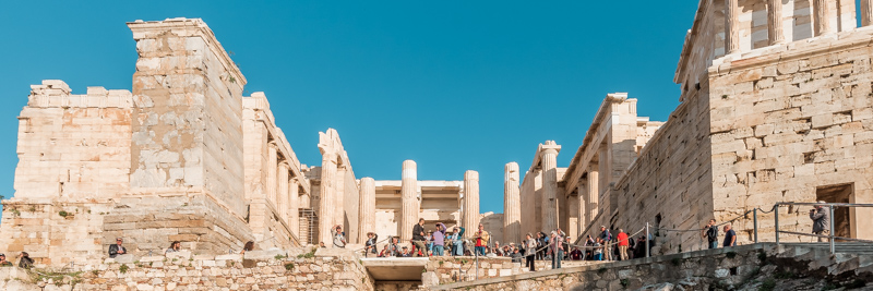 Akropolis Eingang Propyläen Propylon