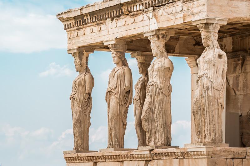 Akropolis Erechtheion Karyatiden Griechenland