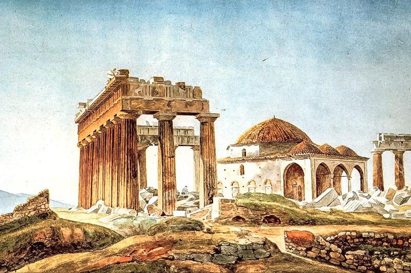 Akropolis Moschee Osmanisches Reich Athen