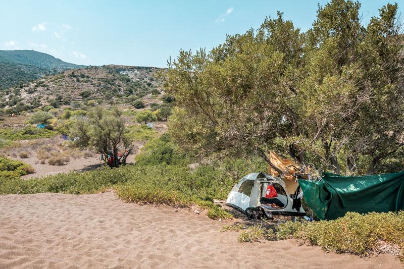 Camping Griechenland wildcampen erlaubt Inseln