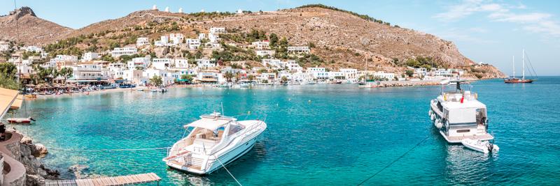 Dodekanes Insel Leros Panteli Urlaub