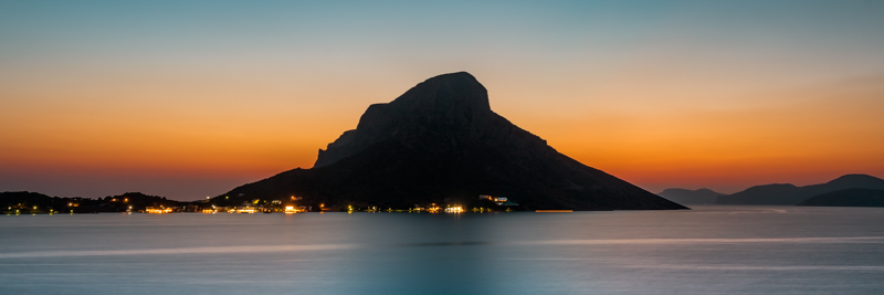 Dodekanes Insel Telendos Kalymnos Sonnenuntergang
