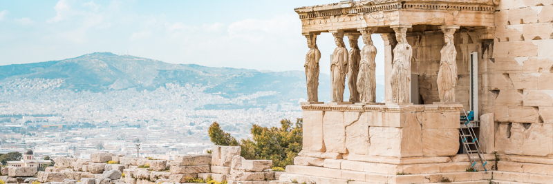 Erechtheion Karyatiden Antikes Griechenland Akropolis