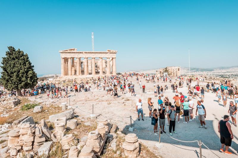 Massentourismus Griechenland Parthenon Tempel August