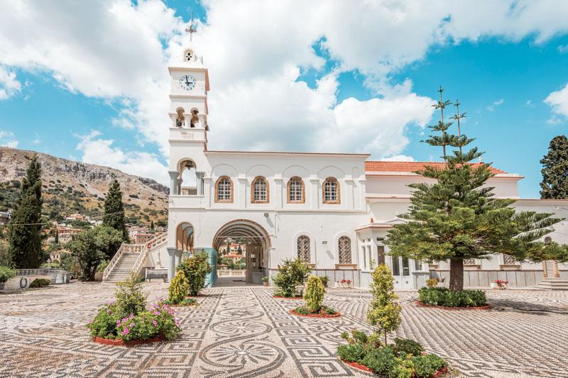 Panagia Erithiani Vrontados Kirche Ostern Griechenland